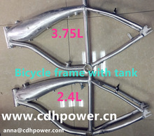 2.4L gas tank frame , silver bicycle alum frame , bike frame with tank built in on sale