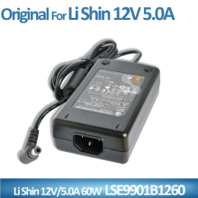 New Original ac Adapter 12V 5A 60W power Supply For Li Shin LSE9901B1260