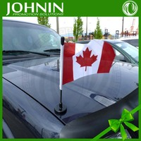 High Quality Metal Aluminum Pole Digital Printing Diplomatic Car Flag