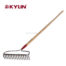 Farming Cleaning Garden Tool 14T 16T Steel Bow Rake With Custom Handle Garden Rake Types