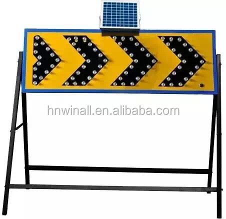 LED traffic solar powered arrow lights with bracket
