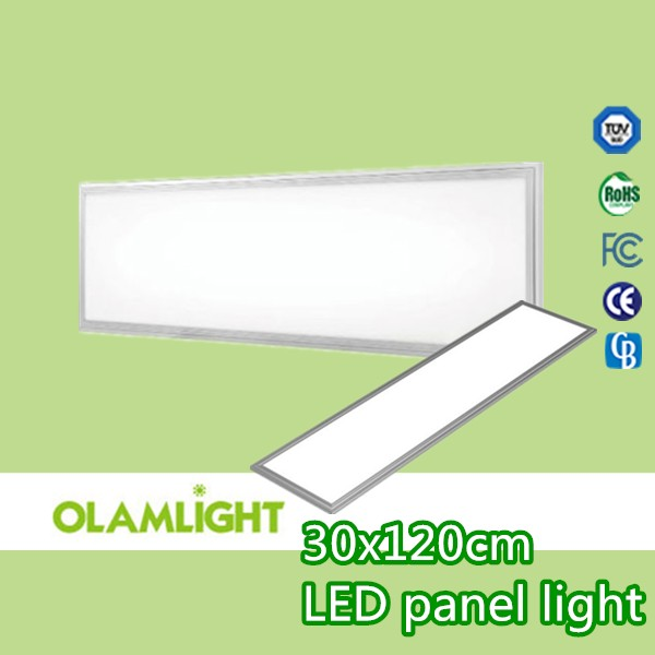 40w 300x1200mm Led Panel Light CRI 90 with Triac /0-10v/Dali dimmable Driver