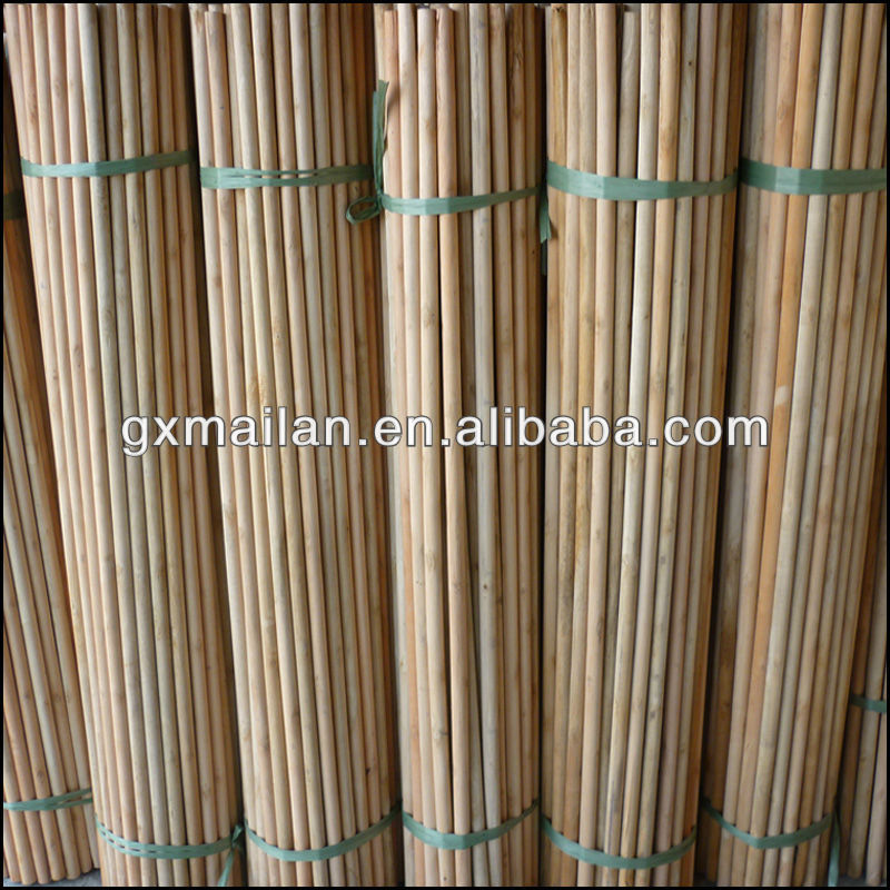 smooth surface natural wooden stick for broom poles