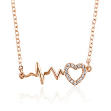44525 Xuping fashion jewelry <strong>necklaces</strong>, newest design custom <strong>necklace</strong>, women rose gold jewelry heart gold plated <strong>necklace</strong>