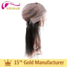 Shangdong factory XBL long lasting natural color lace front human hair wig with baby hair