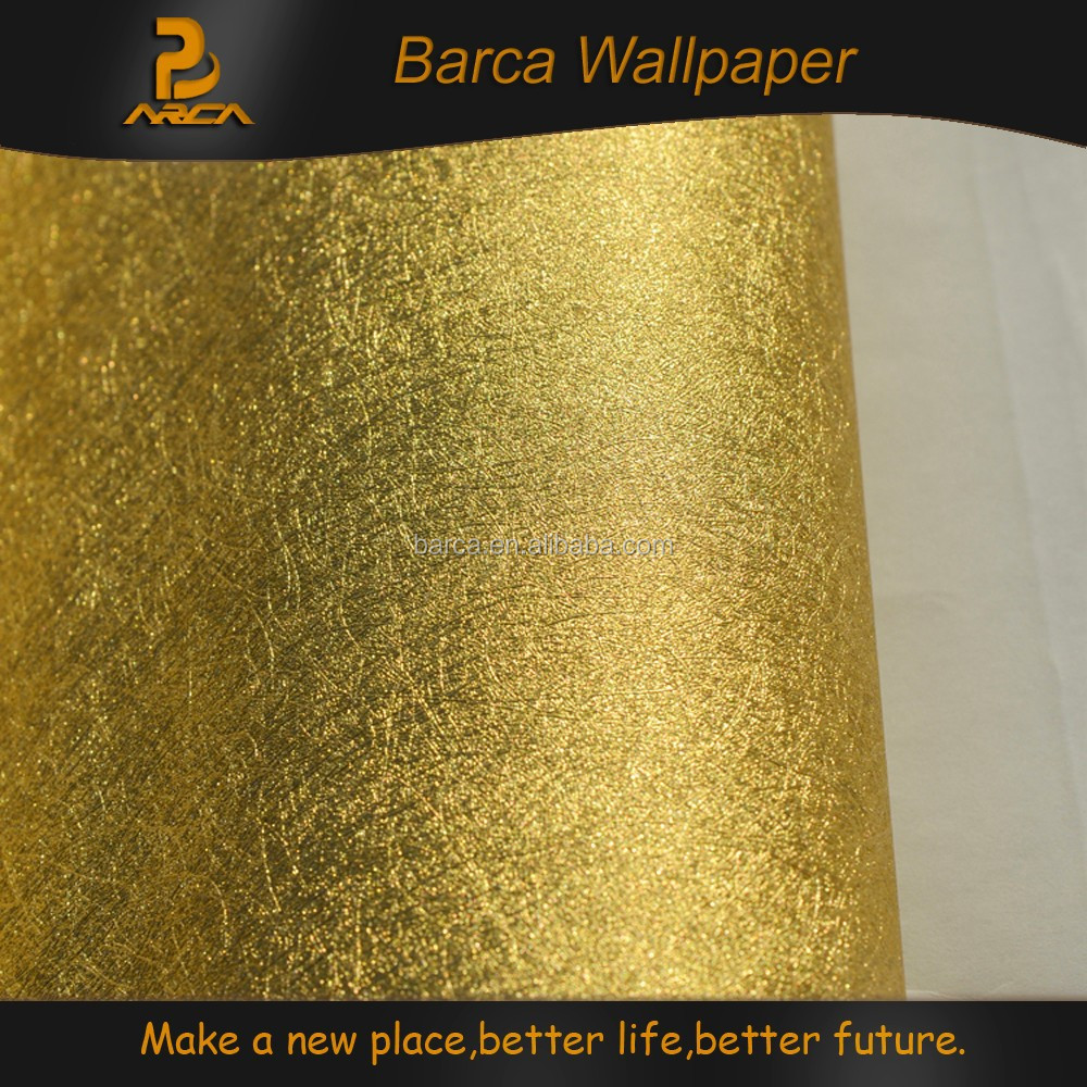 Murals italian style self adhesive gold wall paper buy for Gold self adhesive wallpaper