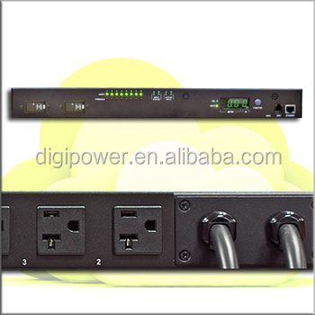 Automatic Transfer Switch 30A 115V, Per outlet switch and monitor