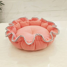 cheap luxury round felt pet house supplies bed for dog cat