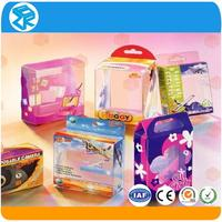 Professional custom made clear small colorful plastic clear acetate box