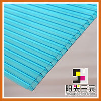 Better insulation and shock resistance of polycarbonate hollow sheet;polycarbonate sheet