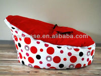 RED DOTS - hot sell baby bean bag,original cotton beanbag seat,2 in 1 multifunction kid toddler sofa beds,tight sleep child seat