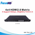 4x4 HDMI 4K matrix switcher hdmi 4 in 4 out matrix support Real HDMI 2.0 HDR10 4K@60hz YUV4:4:4