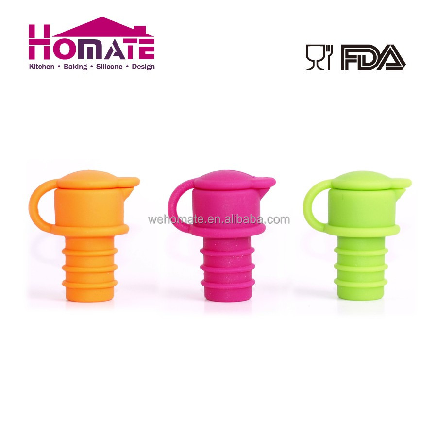 100%Food Garde Any Pantone Color Beer Saver Reusable Silicone Wine Bottle Cap