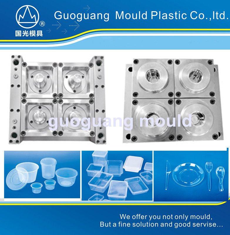 GR848 thin wall PS cup icecream cup packing conainer mould