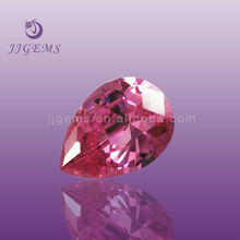 pink cz loose cz gems cubic zirconia pear shape nativa gems