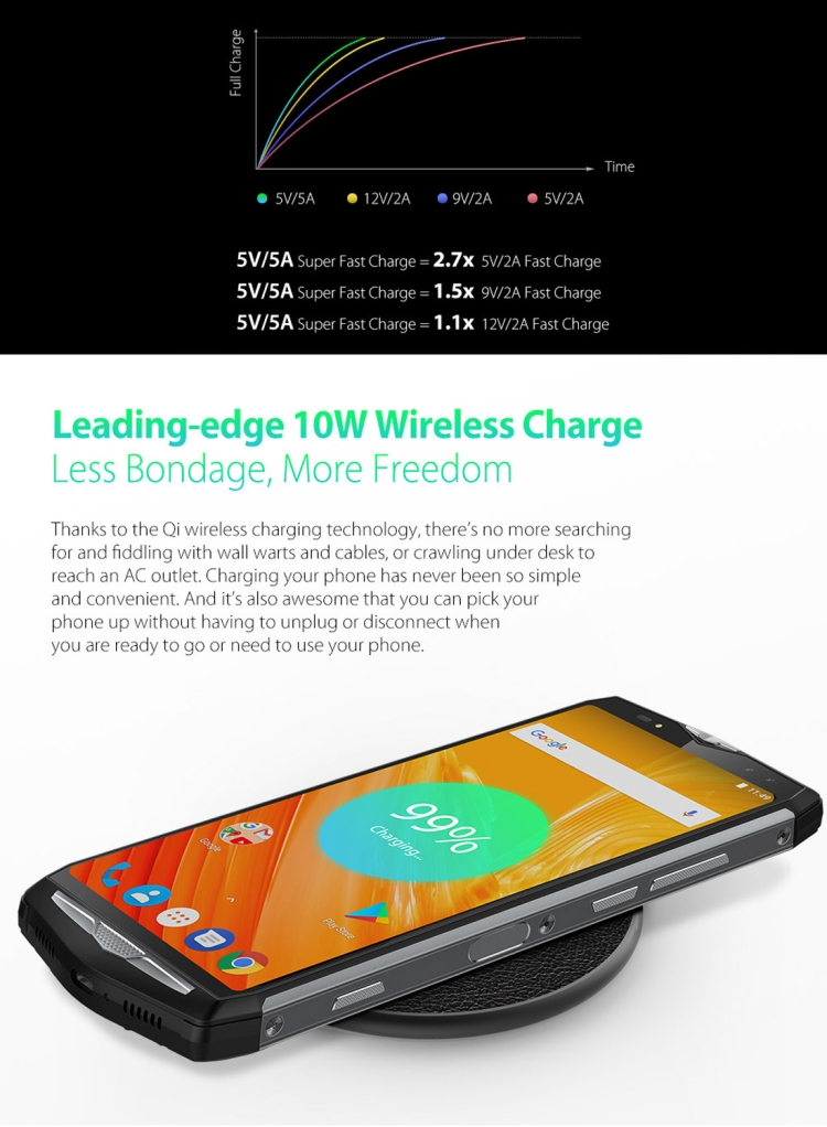 Original Ulefone Power 5 Telephone Smartphone Mobile Phones 4g 6.0 inch Android 8.1 6GB 64GB Cell Phone