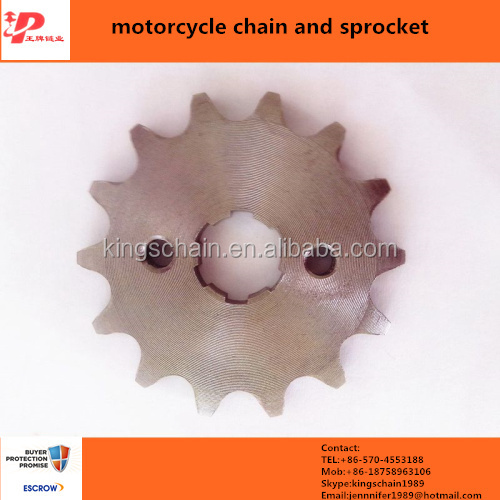 motorcycle spare parts from china motorcycle sprocket 428 14t front sprocket