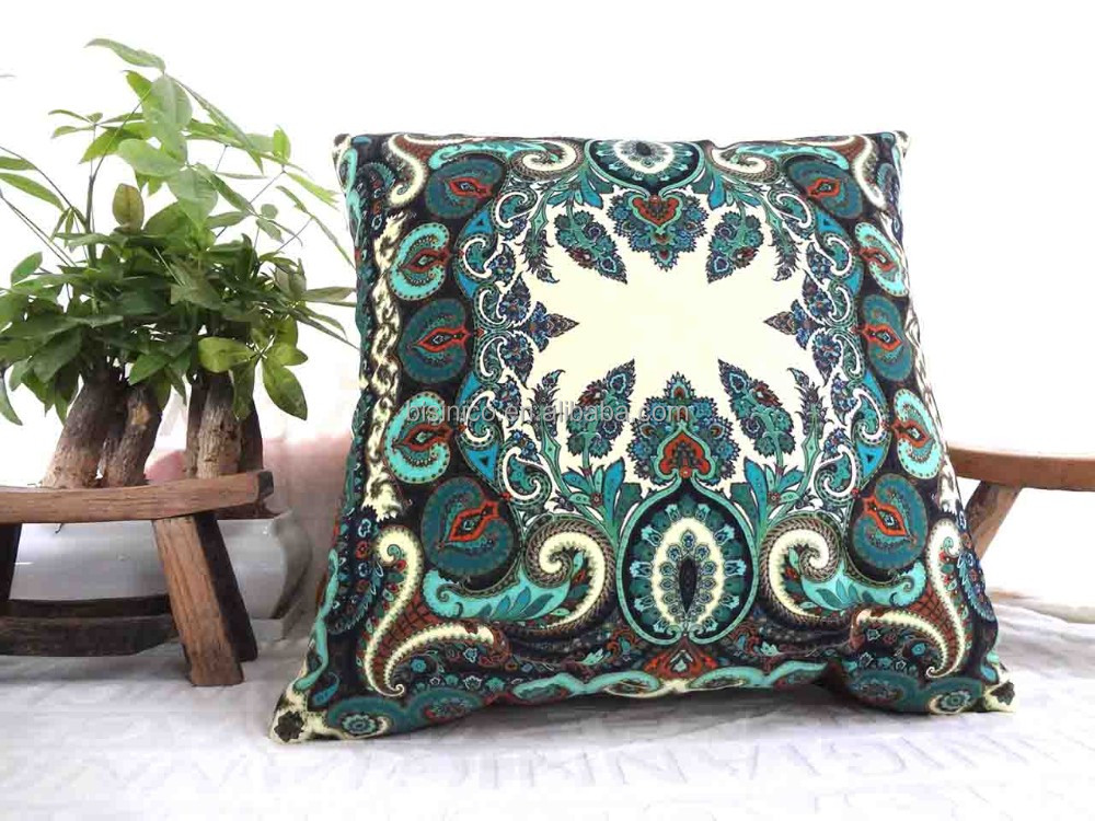 Home Decorative High Quality Cotton Throw Pillow Cover For Sofa Forest Theme