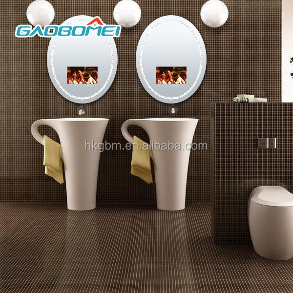 Gaobomei small size LCD Information Displays magic mirror with ad management software/wifi