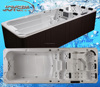 JY8601 Hot sale deluxe outdoor rectangular 6 meter above ground endless Swimming pool spa hot tub combo