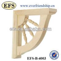 Decorative solid wood shelf bracket with bead