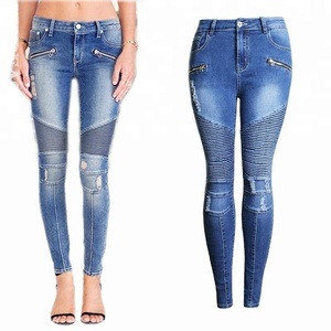 New design ladies jeans pants women denim jean