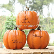 Factory price customized resin craft wholesale artificial pumpkins