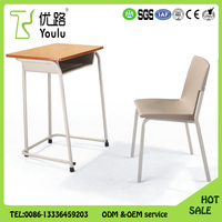 China gold supplier Wooden School Student Table Chair