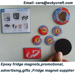 epoxy resin magnetic fridge magnet promotional magnet
