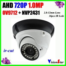 Anolog AHD Home Alarm System Camera 1.0 MP 720P INVP2431H+OV9712 CCD Camera 36pcs F5 Leds Day Night Infrared AHD Digital Camera