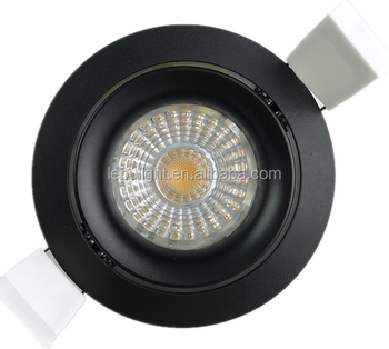 cct 2000-2800k recessed 8w led cob downlight with 32mm height 0-100% dimmable 75mm cut hole for nordic market