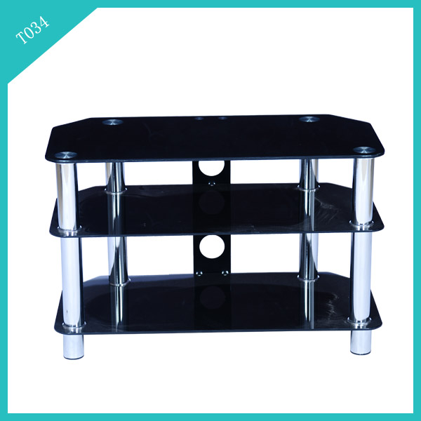 tv cabinet tempered glass aluminium corner inner furniture liquidation T034