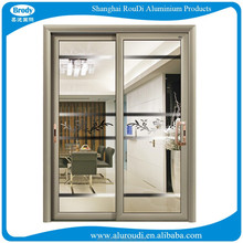 flush door design with reflective glass