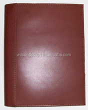 A5 leather padfolio