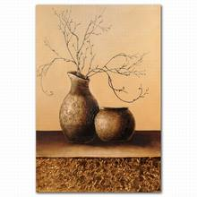 abstract fabric painting designs wall mounted chinese ceramic vases oil painting