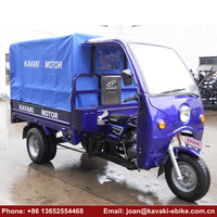 2018 China Top Quality 3 Wheel Petrol Cabin Cargo Tricycle 250cc Automatic Motorcycle with Roof