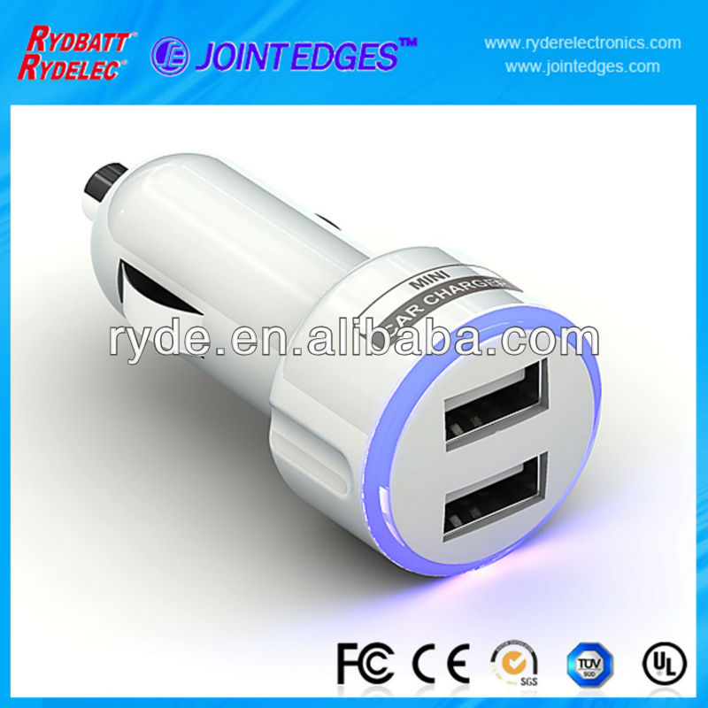 2A/1A Dual USB Car Charger mobile phone charger