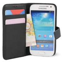 PU Leather Credit Card Wallet Case Cover For Samsung Galaxy S4 MINI I9190 With Screen Protector