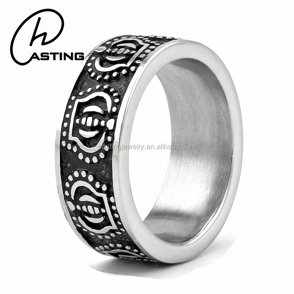 Wholesale Mens Latest Designs Stainless Steel Wedding Band Ring