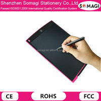 Reusable 12 Inch LCD Writing Tablet Memo Pad Graphics Tablet with Digital Back and Stylus