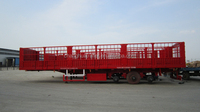 Cargo semi trailer for transporting wood,grain,bagged cement