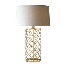 2016 new design golden iron mosaic drum table lamp for home decoration