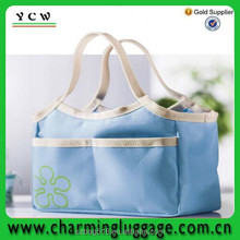 solar bottle polyester cooler bag/aluminium foil tote cooler bag for frozen food
