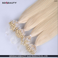 Factory Wholesale indian 100% Human Hot Selling Unprocessed Tangle Free Good Feedback Micro Thin Weft Hair Extension