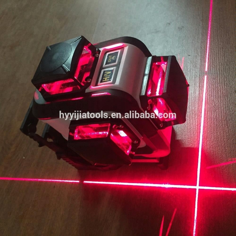 12lines 3D 3x360-degree Highlight full arrange IP64 waterproof Red color laser <strong>level</strong>