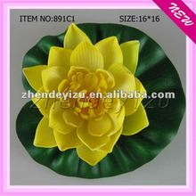 Imitation plastic floating lotus plants decoratived aquarium fish tank wholesale