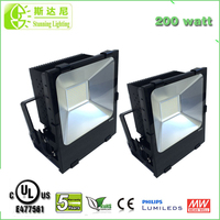 factory price hot sale smd 200w led floodlight projector, SAA 200W LED Floodlight for Factory, Parks & Squares