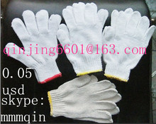 fob 0.05usd/pair knitted glove 7G,10G,13G,cotton uv gloves
