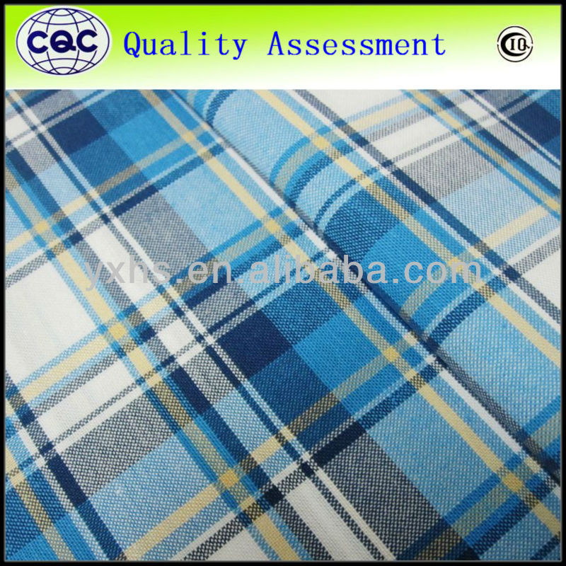 Textiles Design Yarn Dyed School Uniform Check Shirt Fabric