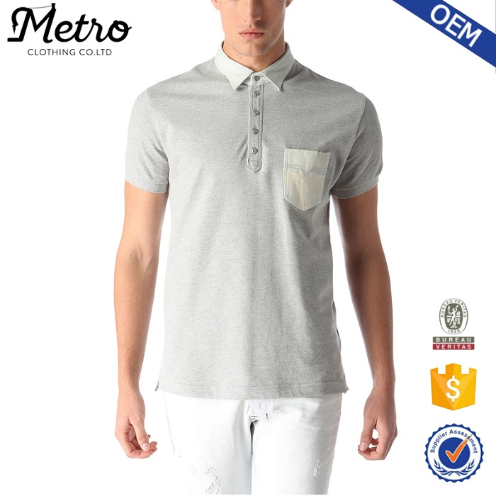 high quality new design color combination polo t shirt with pocket